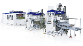 SL-1220 + SL-520 Thermoforming Production Line